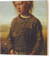 Fisher Girl Wood Print