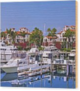 Fisher Island Miami Private Marina Wood Print