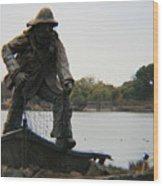 Fisher Statue Wood Print