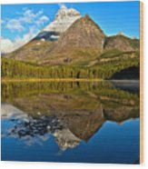 Fishercap Snowcap Reflections Wood Print