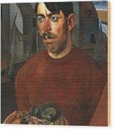 Fisherman Boris Grigoriev Wood Print
