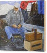 fisherman from Mola di Bari Wood Print