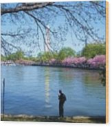 Fisherman In Dc Wood Print