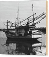 Fisherman's Boat Wood Print