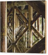 Fishermans Bridge Wood Print
