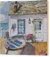 Fisherman's Cottage Wood Print