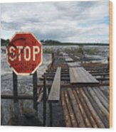Fishermans Dock Wood Print