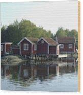 Fisherman's Huts Wood Print