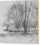 Fisherman's Park Wood Print