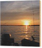 Fishermans Sunset Wood Print