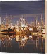 Fishermans Terminal Wood Print