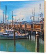 Fishermans Wharf Wood Print