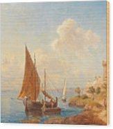 Fishermen On The Dalmatian Coast Wood Print
