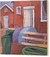 Fishermen Sheds Wood Print