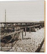 Fishermens Nets On Del Monte Beach Wood Print