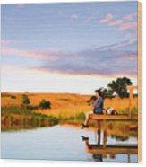 Fisherwoman Wood Print
