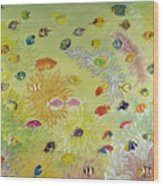 Fishes And Coral Wood Print