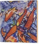 Fishes Wood Print