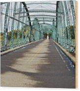 Fisheye South Washington St. Bridge Wood Print