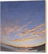 Fisheye Sunset Wood Print