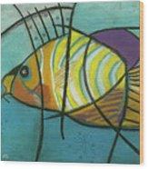 Fishfish Wood Print