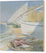 Fishing 1895 Wood Print