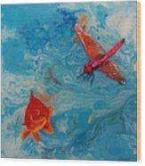 Fishing Around Wood Print