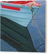 Fishing Boat-1-st Lucia Wood Print
