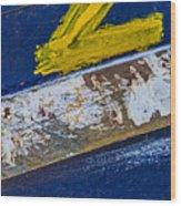 Fishing Boat Abstract Wood Print