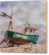 Fishing Boat At Aldeburgh Wood Print