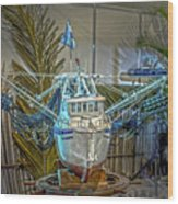 Fishing Boat Hdr 1 Wood Print