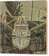 Fishing Boat Hdr 2 Wood Print