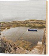 Fishing Boat In Lambs Head Harbor Wood Print