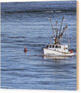 Fishing Boat Return Wood Print