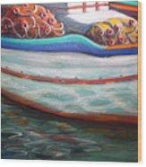 Fishing Boatgreek  Wood Print