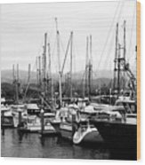 Fishing Boats . 7d8208 Wood Print by Wingsdomain Art and Photography