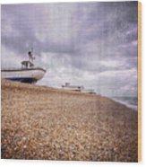 Fishing Boats At Dungeness Wood Print