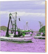 Fishing Boats At Pearl Beach 1.0 Wood Print
