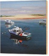 Fishing Boats-cape Cod Wood Print