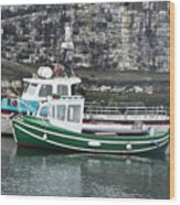 Fishing Boats Clarnlough Northern Ireland Wood Print