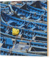 Fishing Boats In Morocco Wood Print