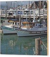 Fishing Boats In San Francisco Wood Print