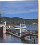Fishing Boats In Sooke Wood Print