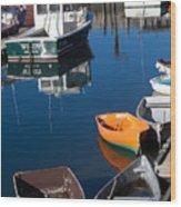Fishing Boats, Rockport, Ma Wood Print