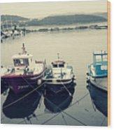 Fishing Boats Wood Print