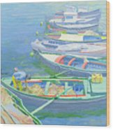 Fishing Boats Wood Print