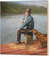 Fishing - Booze Hound 1922 Wood Print