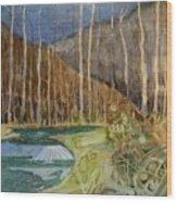 Fishing Creek Wood Print