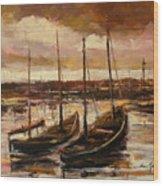 Fishing Cutters  Wood Print