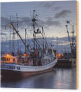 Fishing Fleet Wood Print by Randy Hall